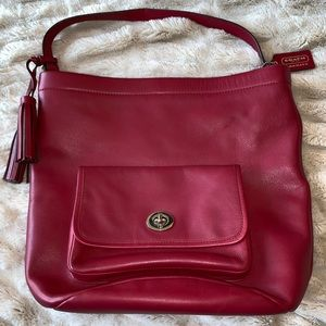 Red Bucket Coach bag!